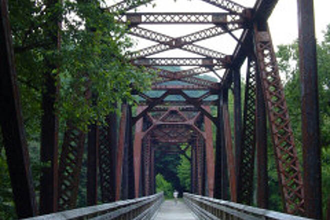 Greenbrier River Trail Greenbrier Bridge This bridge is between Marlinton and Watoga State Park.