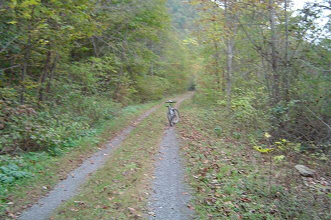 Greenbrier River Trail Up The Hill Resting
