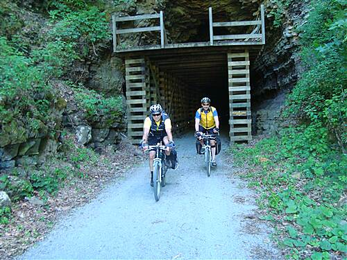 Greenbrier River Trail Into the light Droop Mountain Tunnel