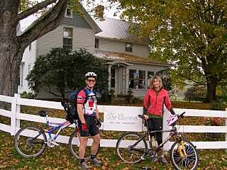 Greenbrier River Trail Ride ~40 Miles and Spend the Night Take a leisurely ride and enjoy the sights, sounds and smells.  Then, spend the night at the Current B&B.  Rest up before the final push to Lewisburg, WV.