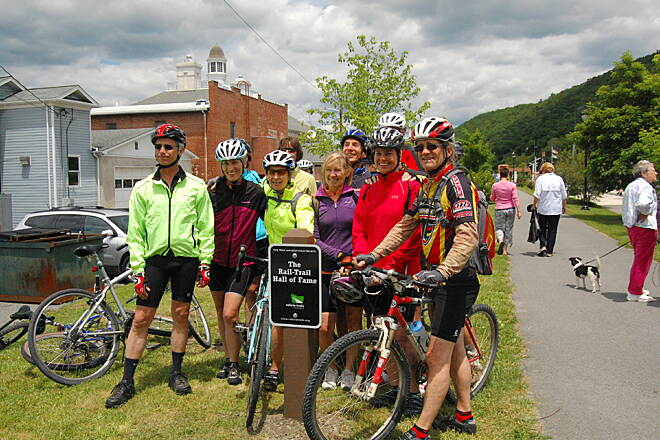 Greenbrier River Trail RTC Hall of Fame sign unveiling - May, 2012