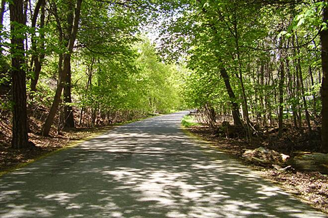 Greenough Park Trail Greenough Park 5 Part of the trail on the east side of the park is a road, but traffic is minimal.