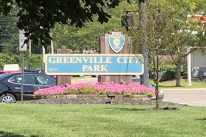 Greenville Creek Trail Greenville City Park Park Sign