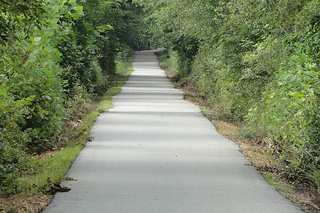 Greenville Health System Swamp Rabbit Trail Swamp Rabbit 'long stretches'