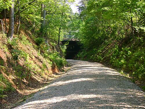 Greenville Health System Swamp Rabbit Trail Going Under the Highway