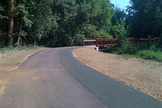 Greenville Health System Swamp Rabbit Trail New Bridge A new bridge behind the Cleveland Street YMCA.