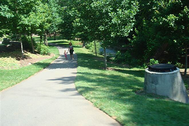 Greenville Health System Swamp Rabbit Trail   At the intersection of Cleveland Park