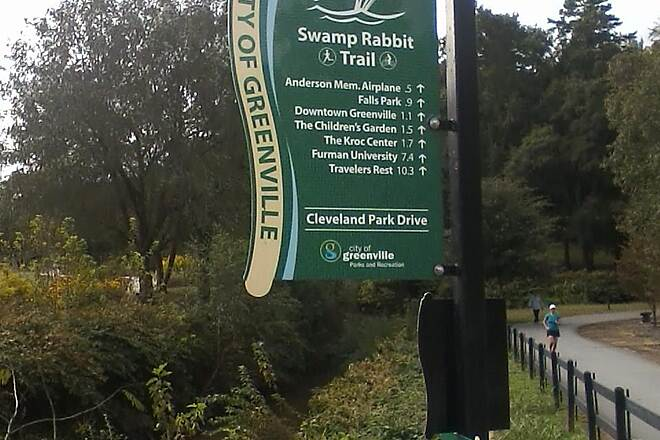 Greenville Health System Swamp Rabbit Trail Distances Note that Travelers Rest is 10.3 miles from this point.