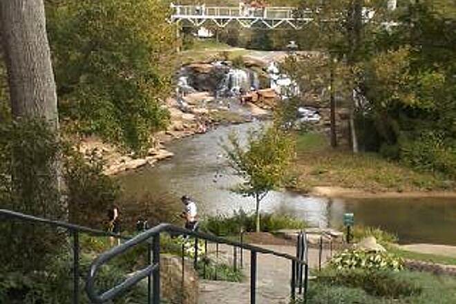 Greenville Health System Swamp Rabbit Trail Reedy River Falls Downtown The trail offers great views of the falls