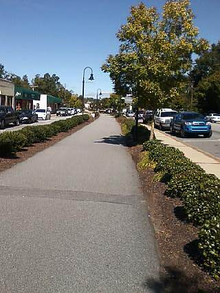 Greenville Health System Swamp Rabbit Trail Downtown Travelers Rest Several cafes and bike shops in TR
