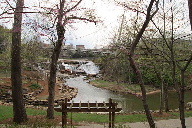 Greenville Health System Swamp Rabbit Trail Reedy Falls, Greenville