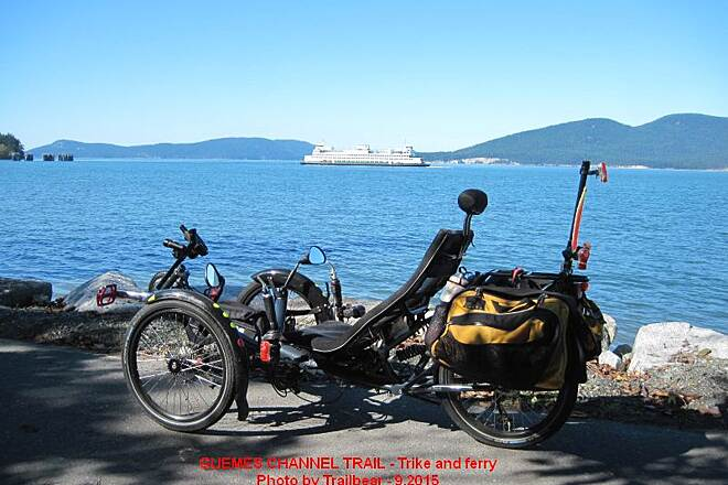 Guemes Channel Trail GUEMES CHANNEL TRAIL  Trike and ferry