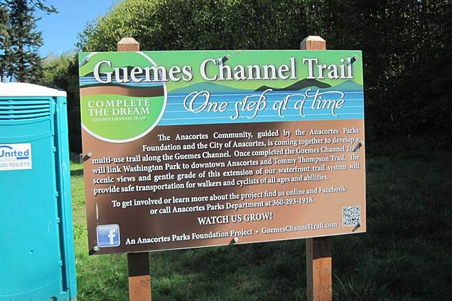 Guemes Channel Trail GUEMES CHANNEL TRAIL They have a new sign.