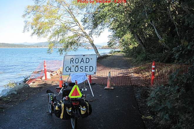 Guemes Channel Trail GUEMES CHANNEL TRAIL Tree clearing ahead