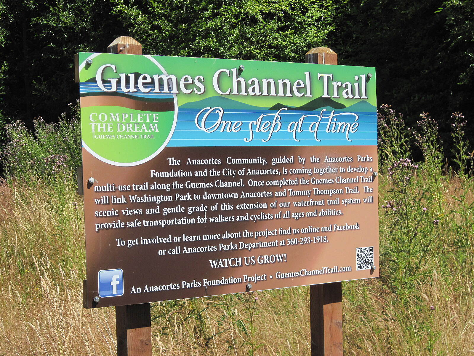 Guemes Channel Trail GUEMES CHANNEL TRAIL The trail sign explains all.