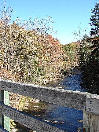 Guest River Gorge Trail View of Guest River from bridge