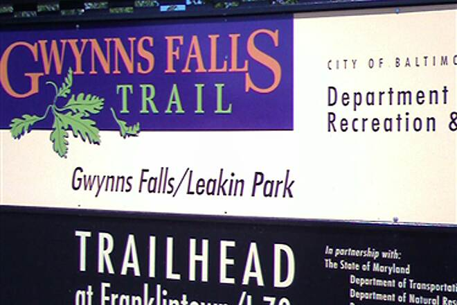 Gwynns Falls Trail Gwynns Falls Trailhead Sign Gwynns Falls Trailhead Sign