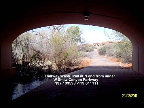 Halfway Wash Trail North End Halfway Wash Trail Snow Canyon Pkwy Underpass