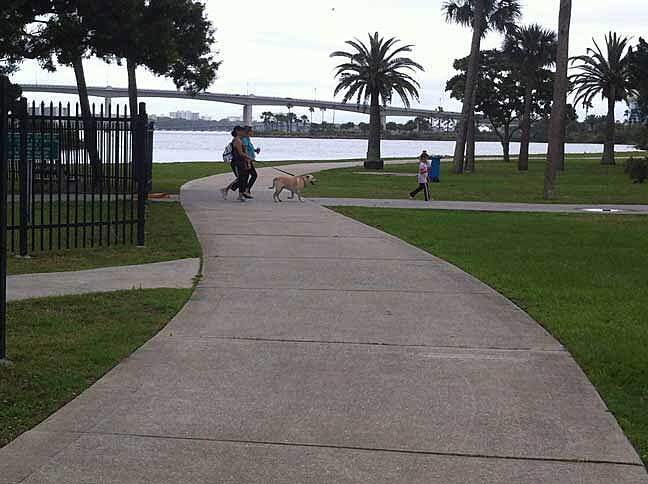 Halifax River Trail River view in Daytona Beach Photo courtesy of the East Coast Greenway Alliance