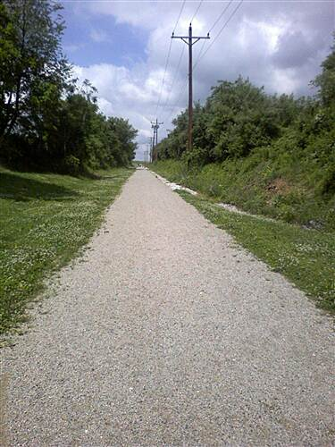 Hanover Trolley Trail Hanover Trolley Trail - east segment The trail shares its right-of-way with  Met-Ed power lines.