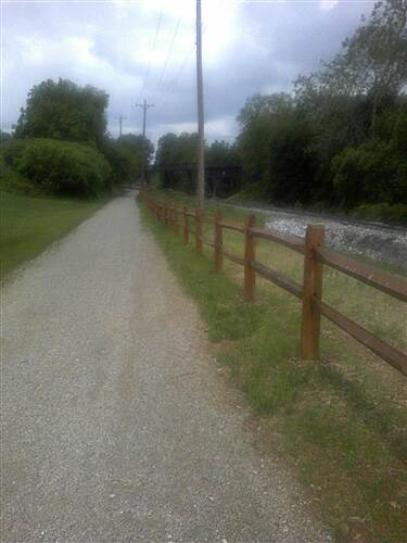 Hanover Trolley Trail Hanover Trolley Trail - east segment The trail parallels the active, York Rail freight line from the trestle into Spring Grove