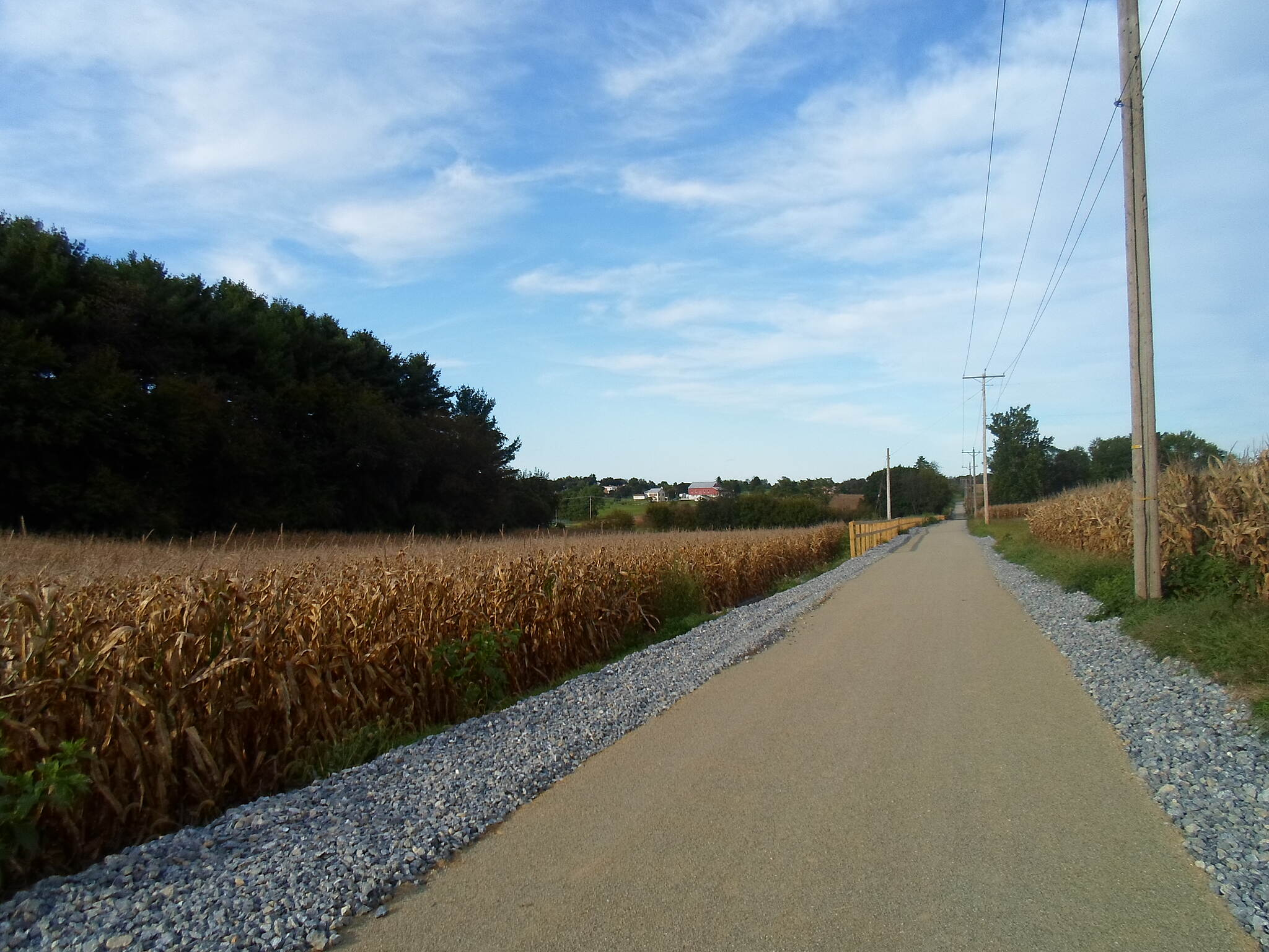 Hanover Trolley Trail Hanover Trolley Trail Passing through cornfields in rural southwest York County on a sunny, early fall day in September 2012.