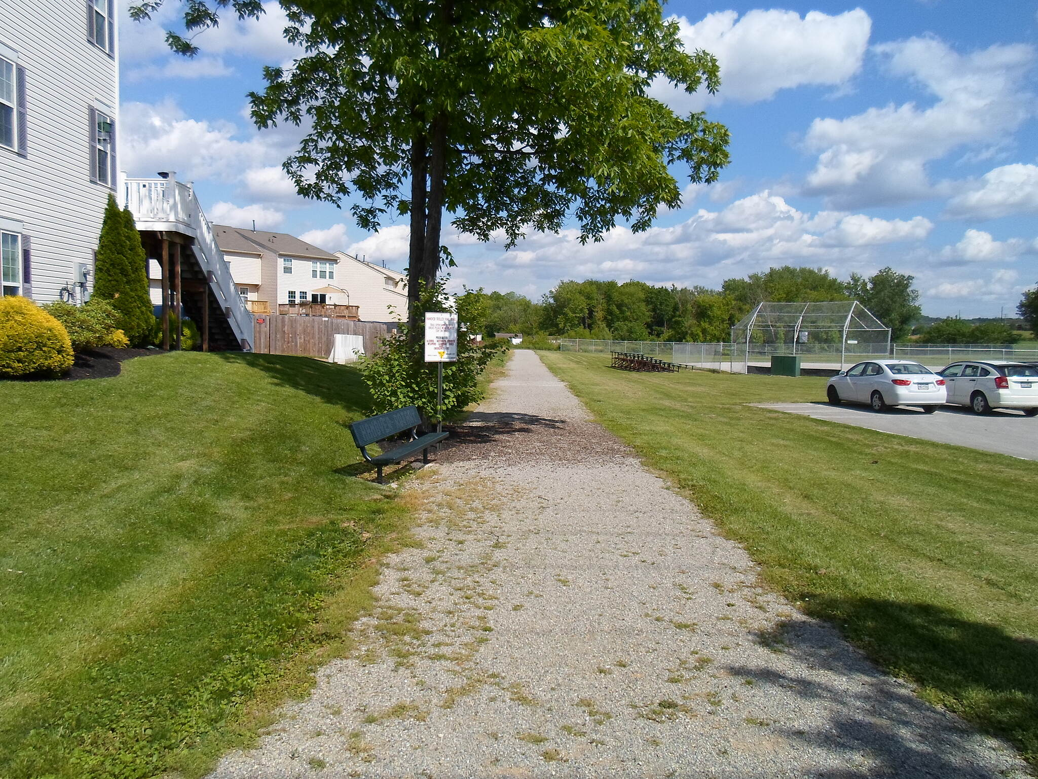 Hanover Trolley Trail Hanover Trolley Trail Looking east onto the Hanover/Penn Twp. segment of the trail from the western terminus in Hanover. The athletic fields of Moul Park can be seen to the right, a condo development to the left. Taken May 2014.