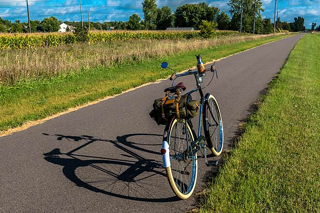 Hardwood Creek Regional Trail A Classic Bike on a Perfect Day 1972 Raleigh DL-1 Roadster on the Hardwood Creek Regional Trail.