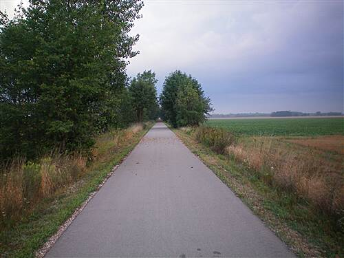 Harger Line Rail-Trail  Between Mueller and Portsmouth Roads looking west.