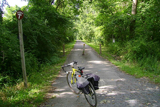 Harlem Valley Rail Trail Copake Falls, NY Start of the northern trail section.