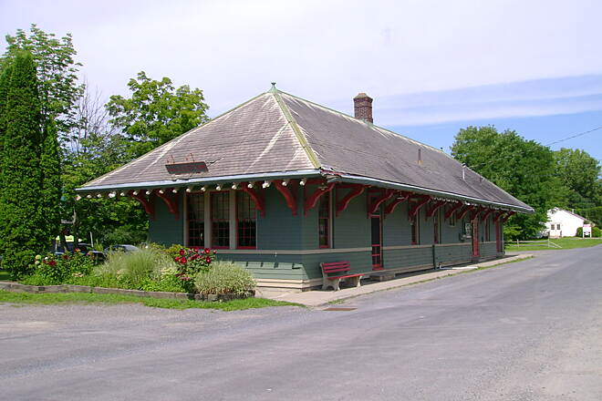 Harlem Valley Rail Trail Millerton, NY The old Millerton Railroad Station near the start of the southern trail section.