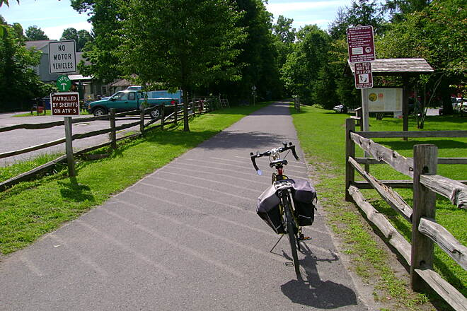 Harlem Valley Rail Trail Millerton, NY Start of the southern trail section.