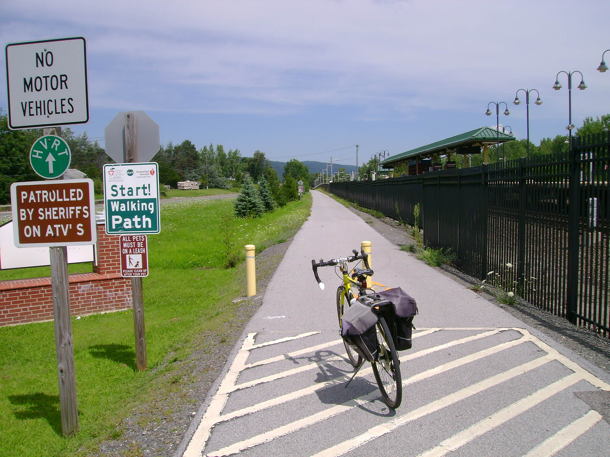 Harlem Valley Rail Trail Wassaic, NY. End of the line at the Wassaic Railroad Station.