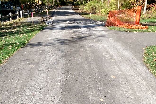 Harlem Valley Rail Trail New consturction New construction off Rte. 344 between Bash Bish Bicycle and Taconic State Park facing north.