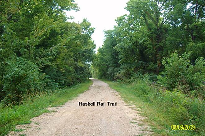 Haskell Rail-Trail Haskell Rail Trail Shade except high noon.