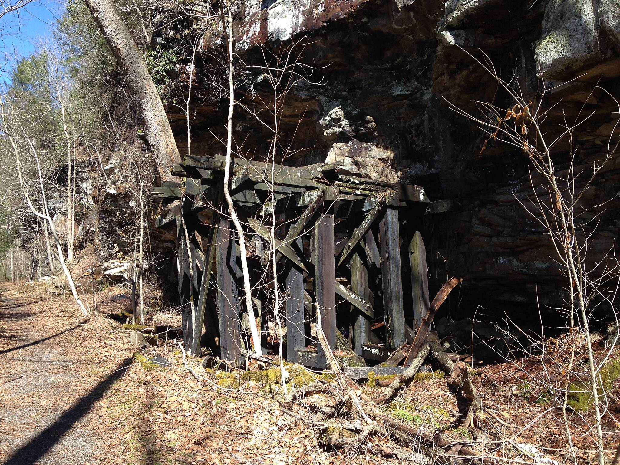 Hawks Nest Rail Trail Railroad remains