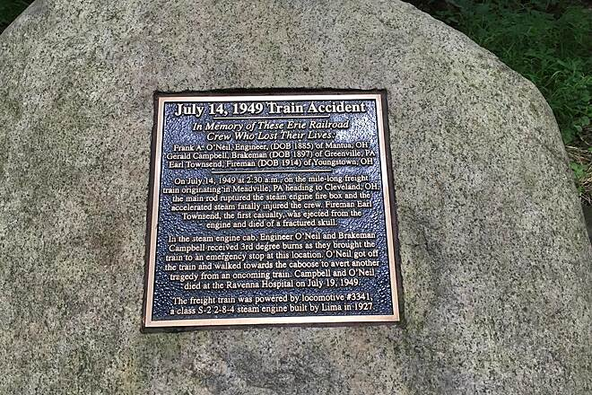 Headwaters Trail Historical Marker - Asbury Road Train Accident