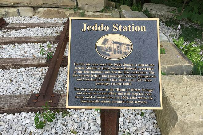 Headwaters Trail Historical Marker - SR700 Jeddo Station