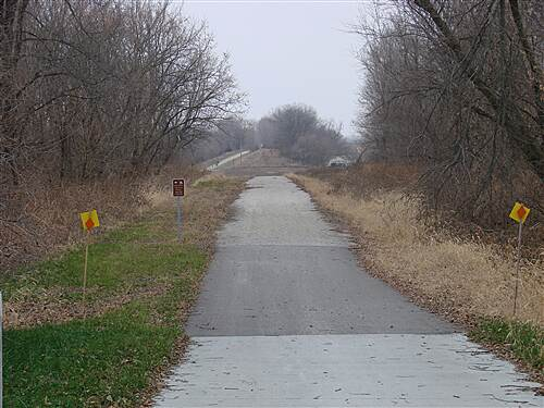 Heart of Iowa Nature Trail HOINT at Cambridge Looking west on the HOINT in Cambridge