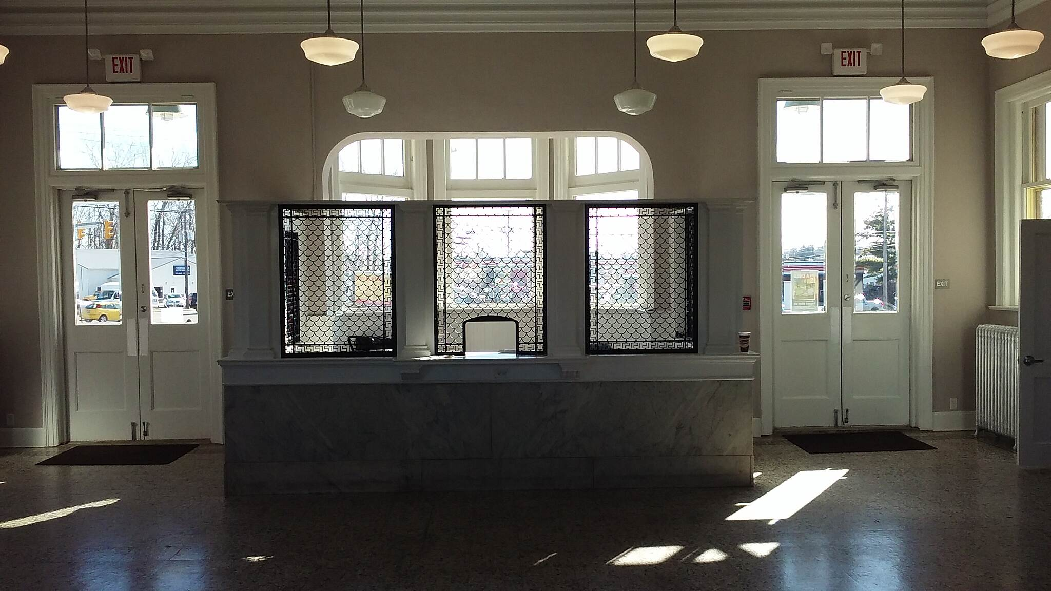 Heart of Ohio Trail Northbound November 2015 Interior of renovated Mt. Vernon depot