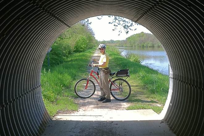 Hennepin Canal Parkway 5-7-13 One of the many 'culvert' type tunnels.