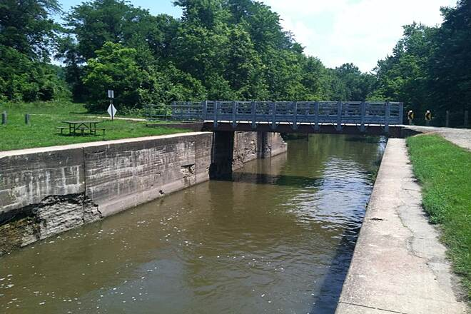 Hennepin Canal Parkway One of Many Bridges