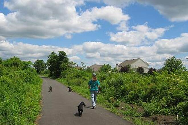 Henry Hudson Trail  Henry Hudson Trail Extension A suitable trail surface for a stroll with your dogs.