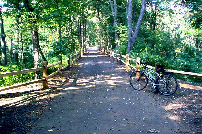 Henry Hudson Trail  Trail with Big Brook bridge in the background, Marlboro Twp. Considering the fact that Marlboro Twp. is one of the  fastest growing towns in N.J., the trail is a true wooded oasis in the middle of suburban sprawl.
