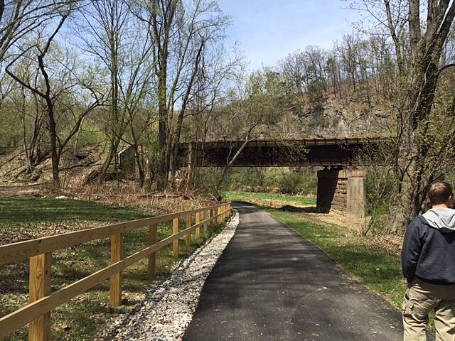 Heritage Rail Trail County Park Newly completed Phase 2 Coming up to Black Bridge