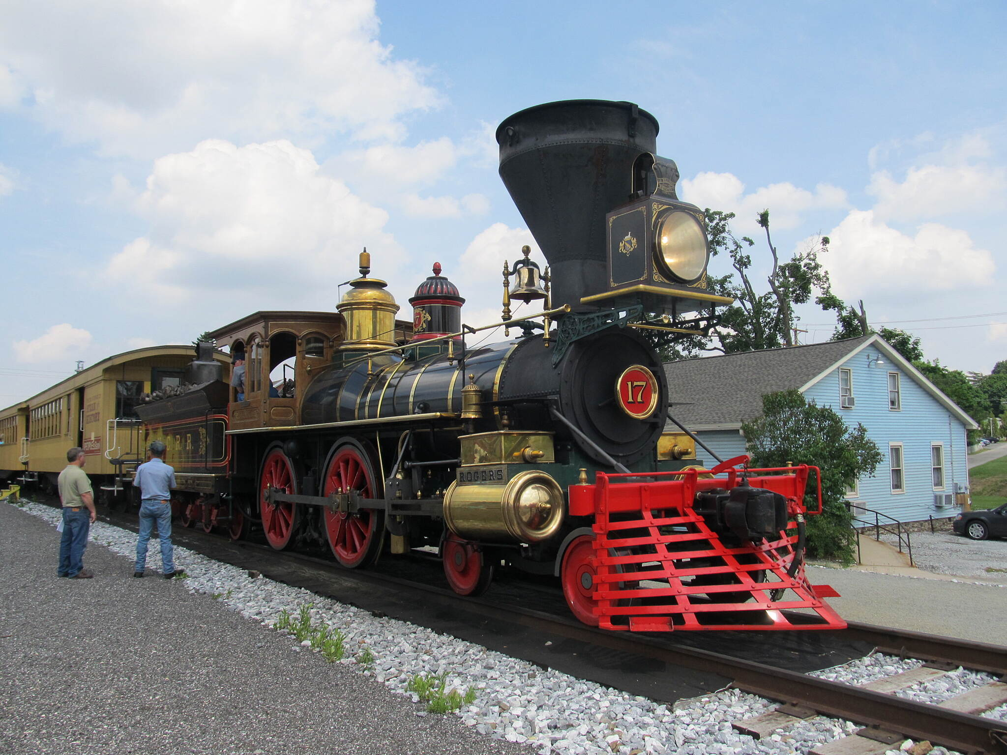 Heritage Rail Trail County Park Excursion train in New Freedom Civil War Replica Steam Engine
