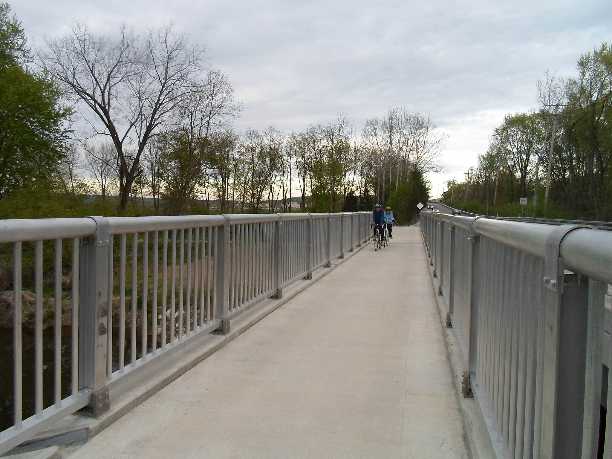 Heritage Rail Trail County Park Heritage Rail Trail Park The bridge carrying the Northern Extension of the trail over the Codorus Creek east of Christ Field is finally complete! Taken April 2015.