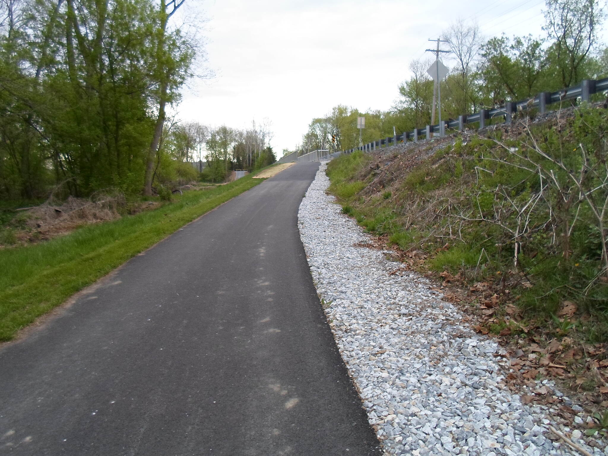 Heritage Rail Trail County Park Heritage Rail Trail Park Approaching the bridge over Codorus Creek; Emig Road can be seen immediately to the south. Taken April 2015.