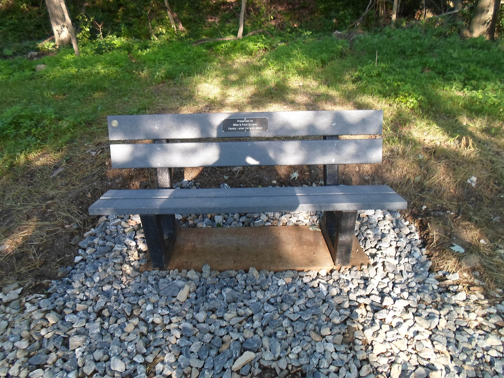 Heritage Rail Trail County Park Heritage Rail Trail Park New bench on the Northern Extension north of York. Taken June 2015.