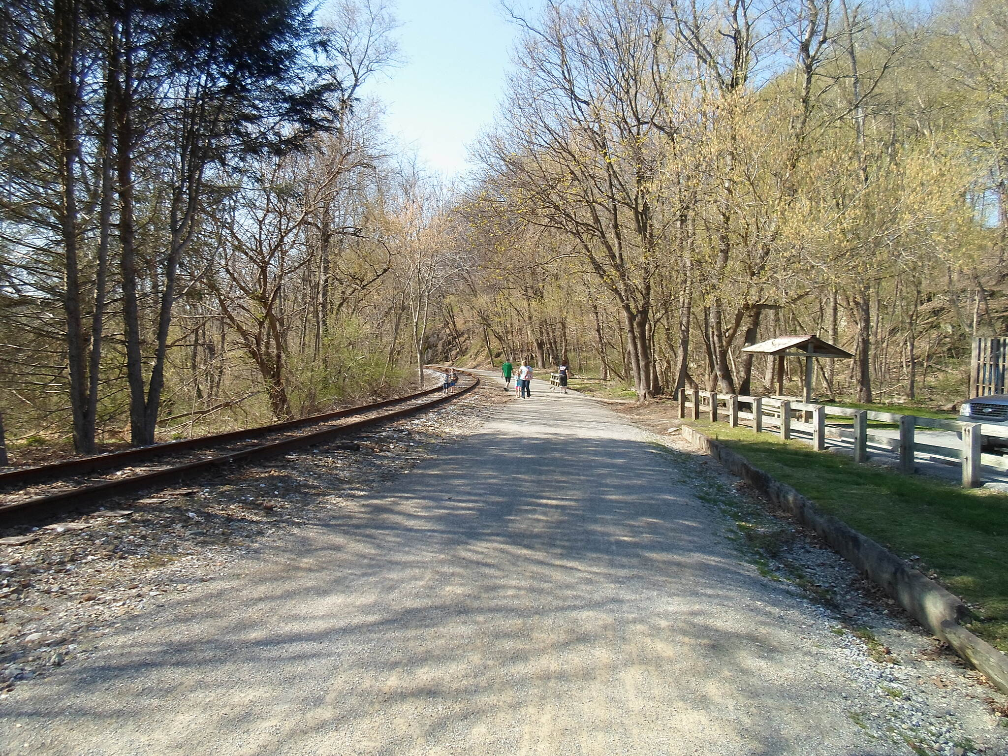 Heritage Rail Trail County Park Heritage Rail Trail Park Looking north from the Railroad trailhead. Taken April 2015.